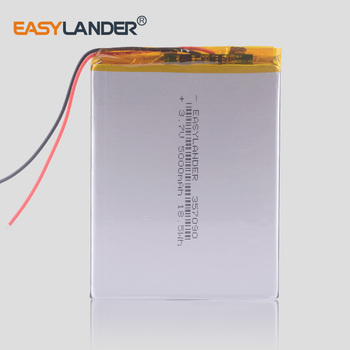 357090 3.7V 5000mAh Rechargeable Li-Polymer Li-ion Battery For 7