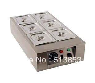 6 Lattice Chocolate Melting Pot/ chocolate melting furnace