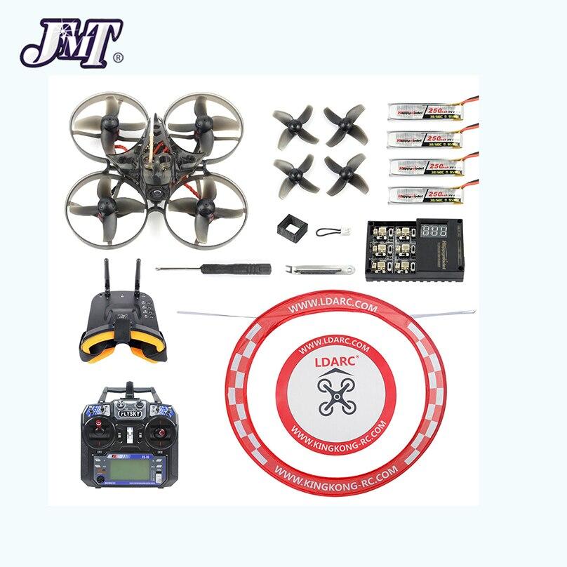 Kit RTF V2 7 Mobula 75mm Crazybee F4 Pro BWhoop RC FPV OSD 2 S Corrida Mobula7 Zangão Quadcopter com Relógio FPV Óculos de Proteção Avental FS i6