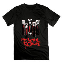 Fashion My Chemical Romance Band Tee Men T Shirt Black 2018 New Short Sleeve Casual T-Shirt Summer