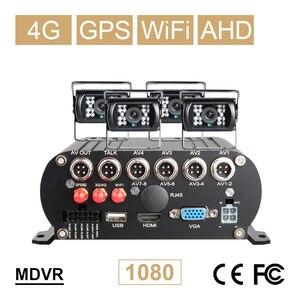 Image 3 - Онлайн 4CH H.264 жесткий диск HDD 4G GPS Wifi Автомобильный регистратор Мобильный Dvr комплект с 4 шт. наружной автомобильной камеры водонепроницаемый для автобуса такси фургона