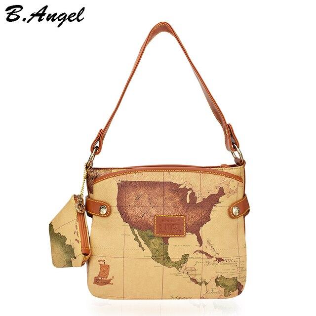f75a990594904 Vintage handtasche weltkarte frauen tasche frauen messenger bags luxus handtaschen  frauen taschen designer leder handtaschen umhängetaschen