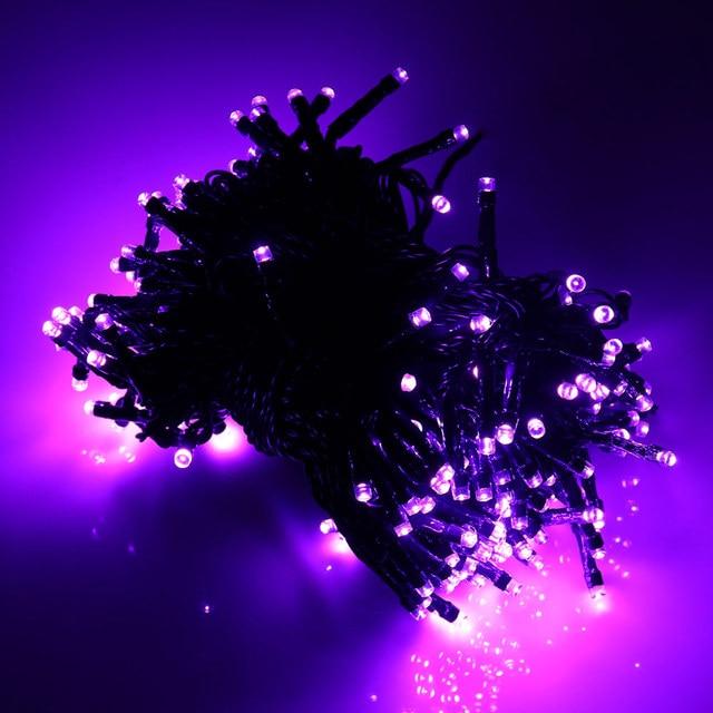 Top Quality Waterproof lederTEK 12m 100 LED Colorful LED Solar Powered Fairy String Lights 8 Modes Christmas Lights for party