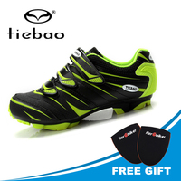 TIEBAO Professional Mountain Bike Cycling Shoes Sapatilha Ciclismo Mtb Shoes Men Mountain Bike Shoes Biking Sneakers Triathlon