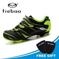 TIEBAO Professionelle Mountainbike Radfahren Schuhe Sapatilha Ciclismo Mtb Schuhe Männer Mountainbike Schuhe Radfahren Turnschuhe Triathlon-in Fahrradschuhe aus Sport und Unterhaltung bei