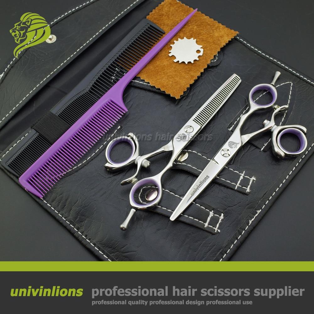 """5,5 """"VG10 svivel hår sax professionell frisör sax svivel tum hår hårskärning roterande roterande tumsaxar"""
