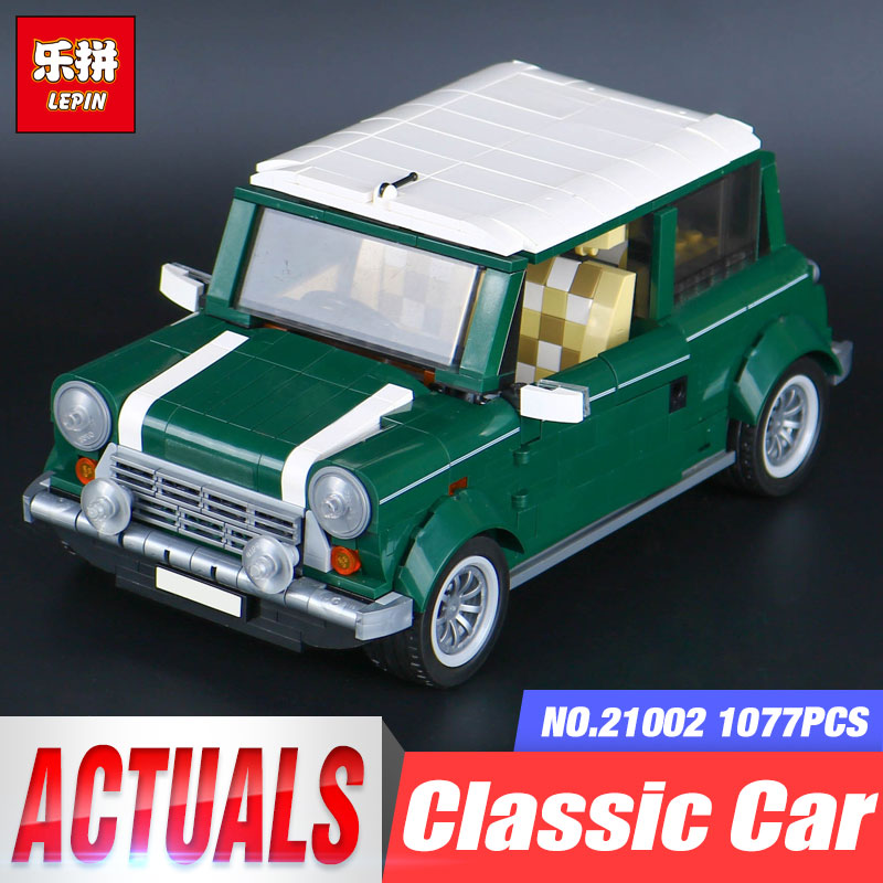 Lepin 21002 Technic Creator MINI T1 Classic Cooper City Beetle Model Building Blocks Bricks Toys for children gift legoing 10242 lepin 21003 series city car beetle model building blocks blue technic children lepins toys gift clone 10252