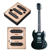 3pcs/set Black SSS Standard Single Coil Pickups for Electric Guitar Facilitated Installation Guitar Parts & Accessories