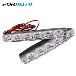 2 шт. 6 светодиодов автомобиля дневные ходовые огни автомобиля-Стайлинг дневные ходовые огни автомобильный дневной свет лампа авто