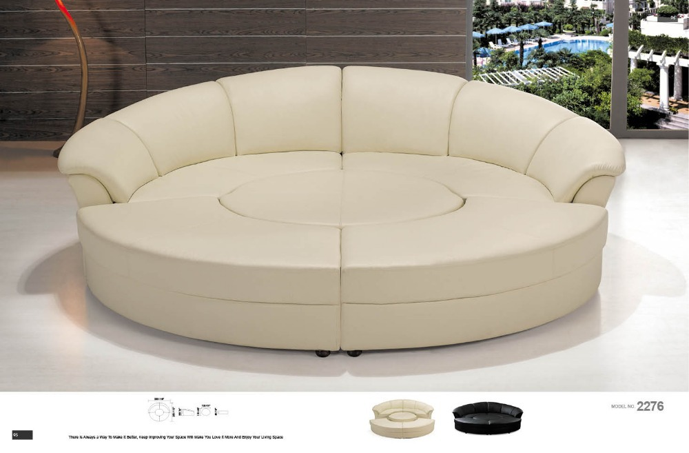 Round Corner Sofa Round Leather Sofa Round Sectional Sofa  In Living Room  Sofas From Furniture On Aliexpress.com | Alibaba Group