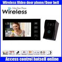 2 4GHz 7 TFT Wireless Video Door Phone Hands Free Visual Intercom Doorbell IR Night Vision