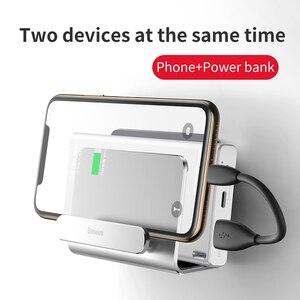 Image 3 - Baseus壁掛けホルダー電源銀行電話充電マウントホルダー粘着充電ソケットiphoneホルダースタンド電話ソケット
