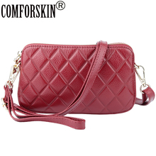 COMFORSKIN Luxurious 100% Cowhide European And American Ladies Messenger Bag 2019 New Arrivals Womens Leather Cross-body Bags