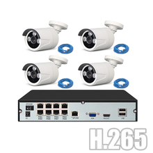 YiiSPO POE CCTV System kit 720P 1080P IP Camera outdoor waterproo H.265 NVR network P2P XMeye APP 48V