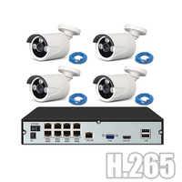 YiiSPO POE CCTV-System kit 720P 1080P IP Kamera outdoor waterproo H.265 NVR netzwerk kit P2P XMeye APP POE 48V NVR kit