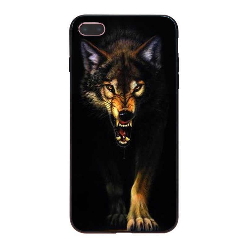 MaiYaCa 怒っ動物ウルフ新高品質電話ケース iphone 8 8 プラス 7 7 プラス 6 6S プラス X XS XR XSMax 5 5S 、 SE Coque シェル