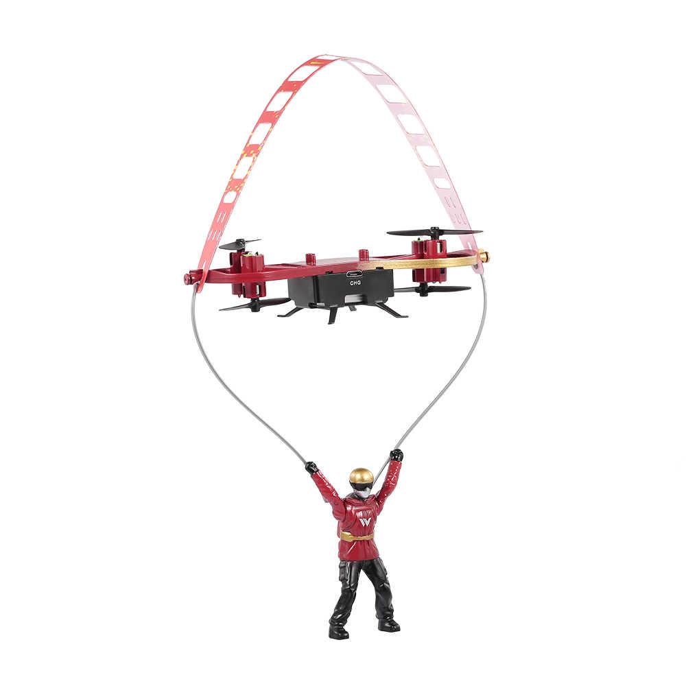 Di Atas F5 2.4G 4CH Mini Drone Ekstrim Skater Berbentuk Pesawat Skateboard Terbang RC Drone Quadcopter Terbang Helikopter Mainan untuk anak