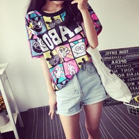 Fashion Women S Summer T Shirt Clothes Shirt O Neck The Letter Printing Free Shipping