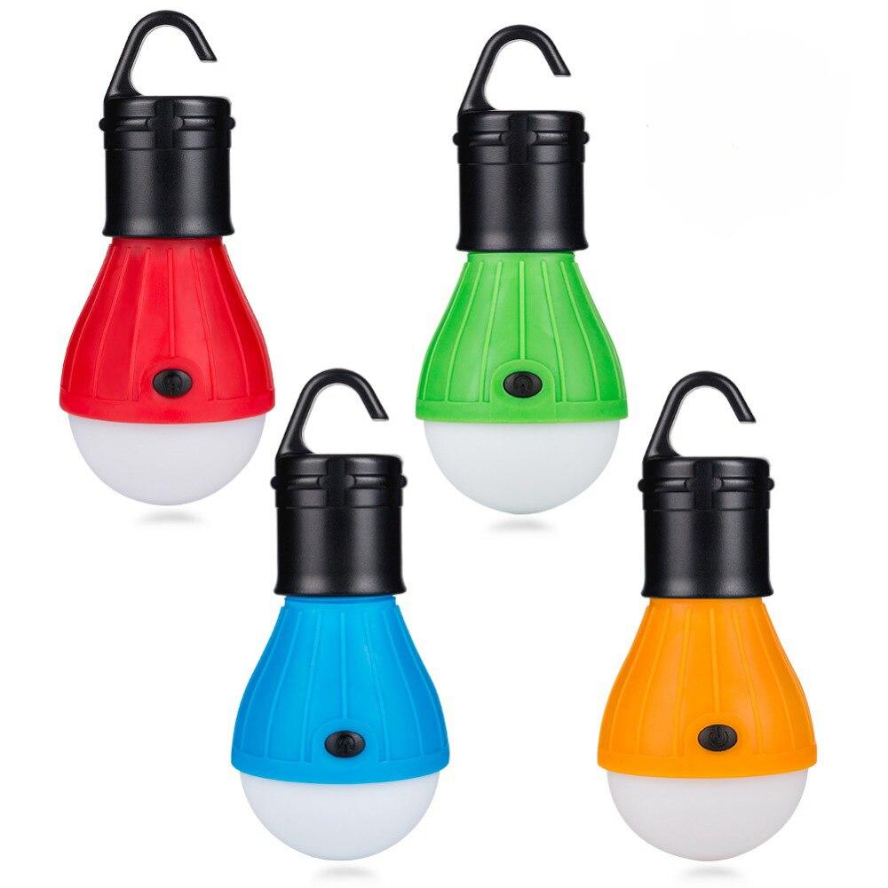 CHENGLIANGZHE Portable Lantern Hook 3LED Mini Bulb Light Camping Lantern Outdoor Lantern Flashlight Emergency Light