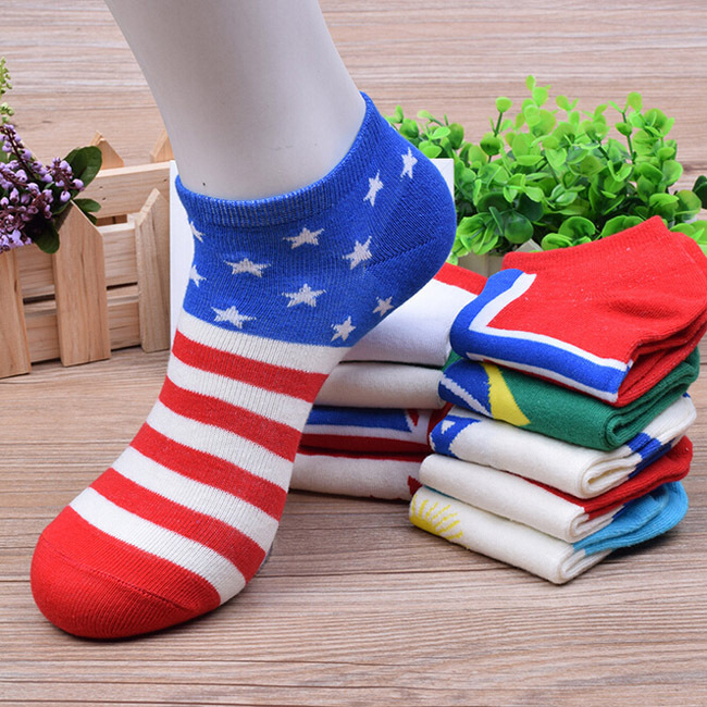 10 Pairs/ Lot Fashion New National Flag Pattern Polyester Men Socks Autumn Winter Boat Classical Casual Meias Sock Good Quality