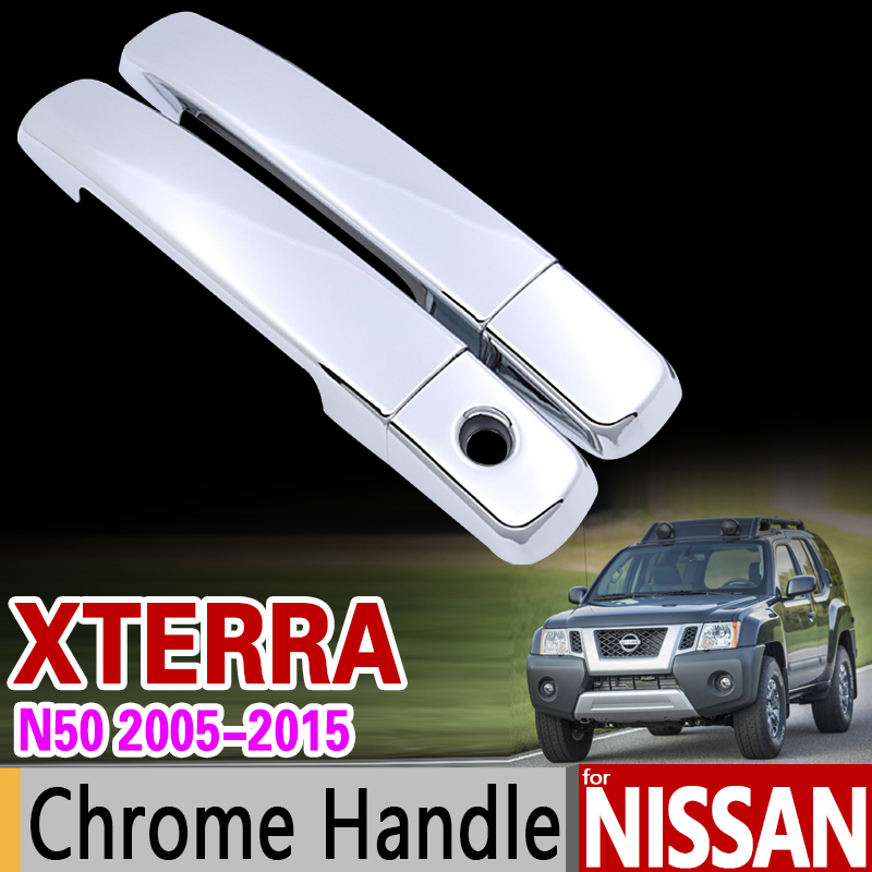 For Nissan Xterra N50 2005 - 2015 Chrome Handle Cover Trim X Terra 2007 2008 2010 2012 2014 Car Accessories Stickers Car Styling