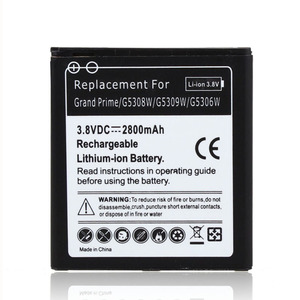 2800mAh Battery For SamSung Galaxy Grand Prime G5308W G5309W G5306W EB-BG530BBC Replacement Li-ion battery