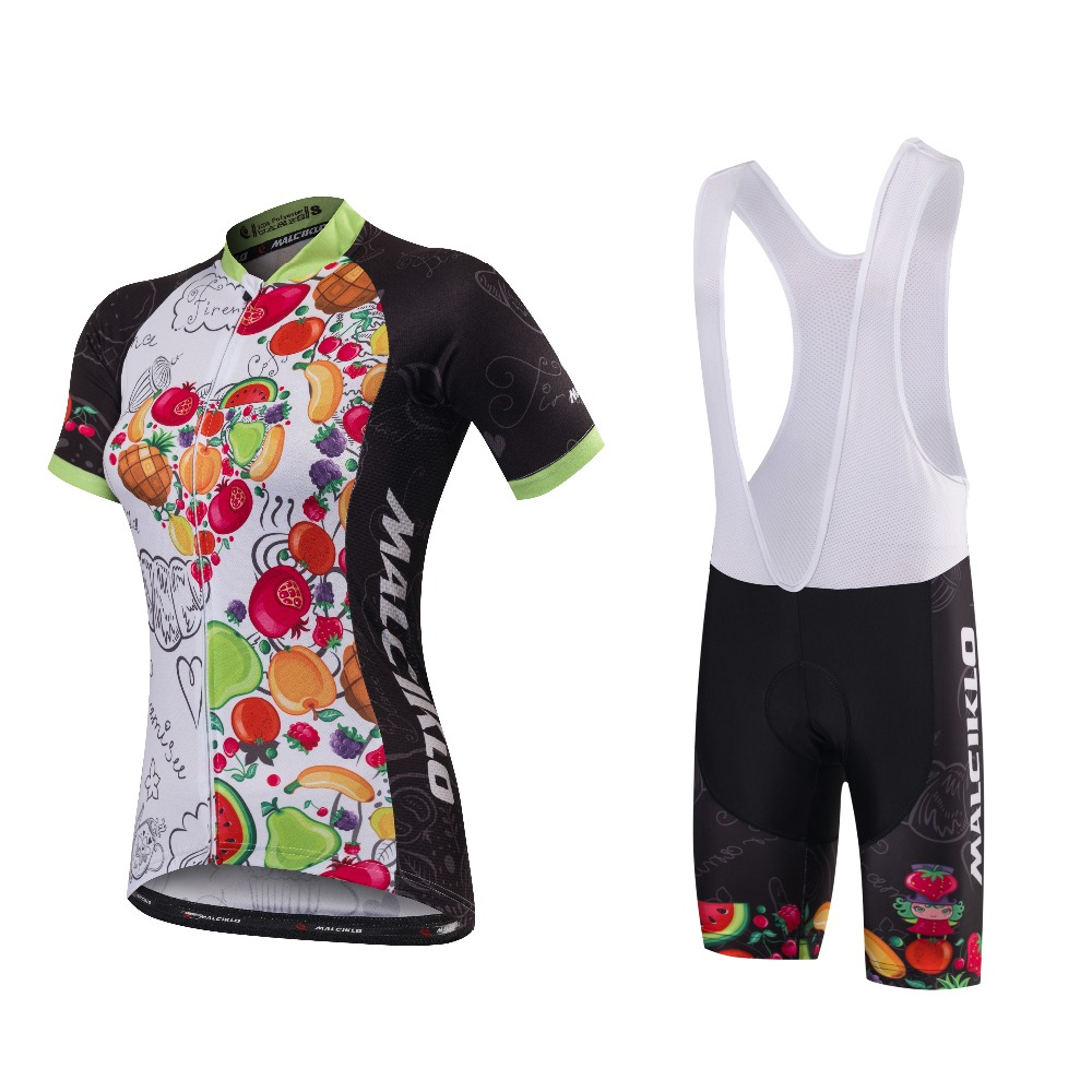 Malciklo Summer Women MTB Bike Cycling Clothing Breathable Mountian Bicycle Clothes Ropa Ciclismo Quick-Dry Cycling Jersey Sets