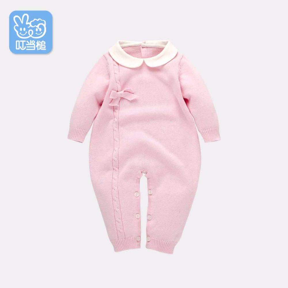 Dinstry New born vara bow Clothing Baby Costumes Infant Romper Baby Cute coat Boys Girls Jumpsuit girls dress