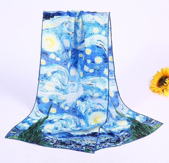 women summer butterfly printed long scarf for women
