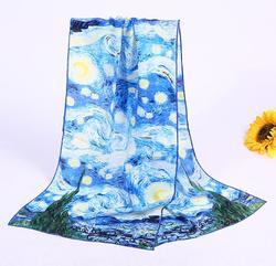 Bufanda larga con estampado de mariposa de verano para mujer