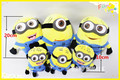Free shipping minions plush dolls toy 3D eyes minion staffed toys 10cm 20cm children christmas gift minion doll plush
