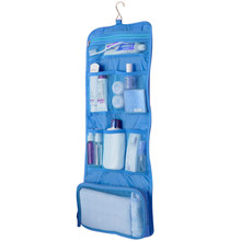 Polyester Unisex Folding Portable Waterproof Travel Hanging Storage Bag For Organier Cosmetic Wash Supplies For Bathroom Outdoor