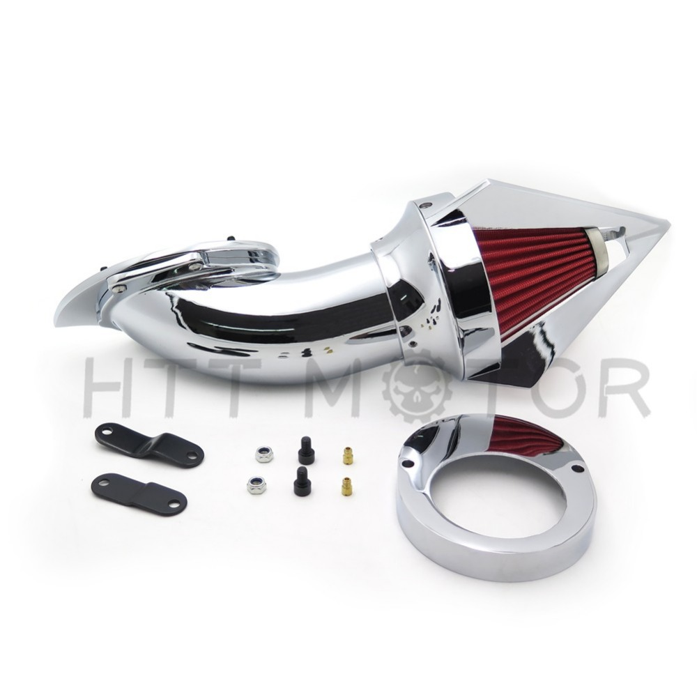 Aftermarket free shipping motorcycle parts Cone Spike Air Cleaner Kit for  Yamaha Vstar V-Star 650 all year 1986-2012 CHROME aftermarket motorcycle parts chrome spike air cleaner for yamaha road star 1600 xv1600a 1700 xv1700 1999 2012