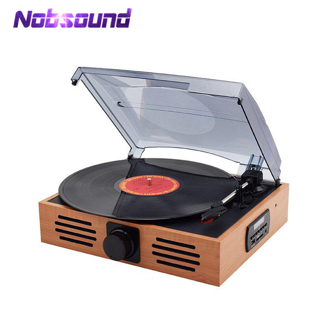 Nobsound HiFi 3 Speed Home Phono Turntables LP Vinyl Recorder Player  Built In Stereo