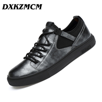 DXKZMCM Men S Shoes Handmade Genuine Leather Men Casual Shoes Men Fashion Designer Flats Sneakers Shoes