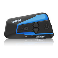 Newest 2018 Lexin 4 Rider Talking At The Same Time With FM Motorcycle Bluetooth Helmet Headsets