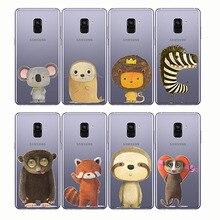 phone cases cute fox Koalas lion bird panda tiger animal cover for Samsung A6 A7 A8 A9 2018 2015 A3