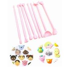 8 шт. инструменты для резьбы по торту с мастикой, инструмент для глаз, пластиковый резак для мастики, резак для помадки, форма для украшения т...