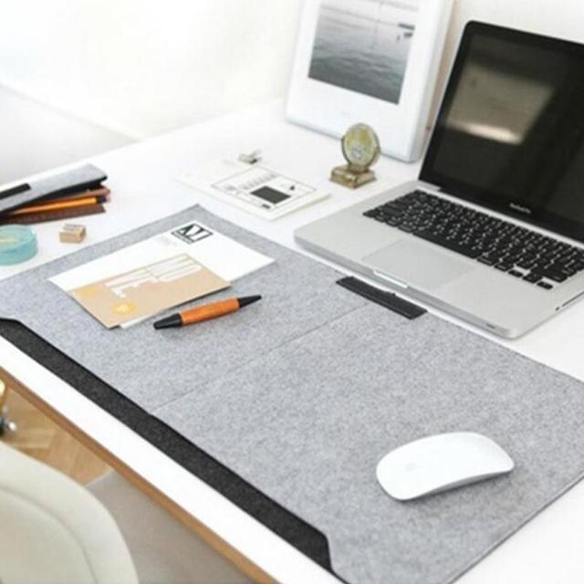 tapis de bureau tapis de souris porte stylo pour ordinateur portable en feutre de laine