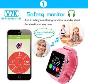 Image 5 - V7k dla dzieci smartwatch GPS globalnej lokalizacji dla dzieci dziecięcy zegarek telefon Finder Tracker aparatu Anti lost SOS bezpieczne połączenie głosowe PK Q50 q90