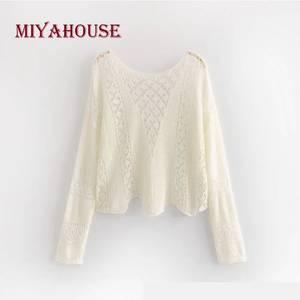 d523f01b3d Miyahouse Female Cotton Full Sleeve Shirts Women T-Shirt