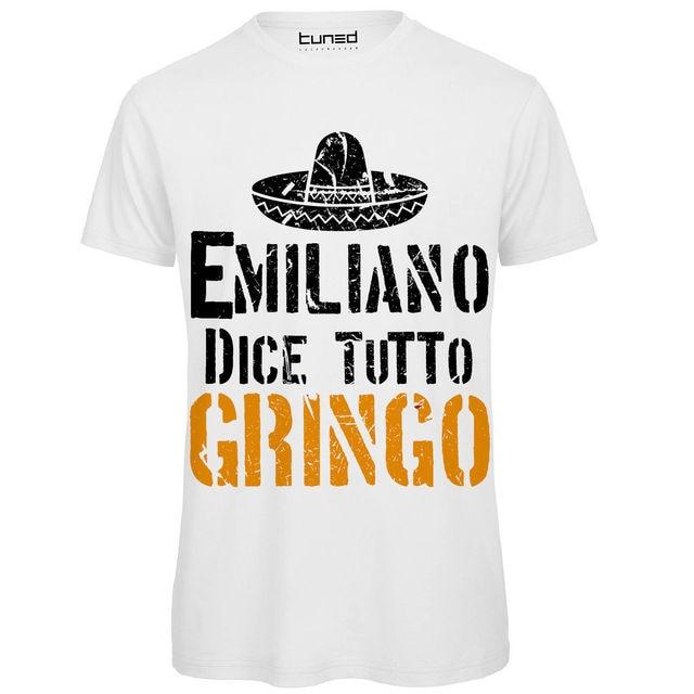 new styles 74eb5 95e22 US $13.04 13% OFF|T Shirt Divertente Uomo Maglia Con Stampa Citazioni Film  Emiliano Non Tradisce T Shirt Men Short Sleeve Funny-in T-Shirts from Men's  ...