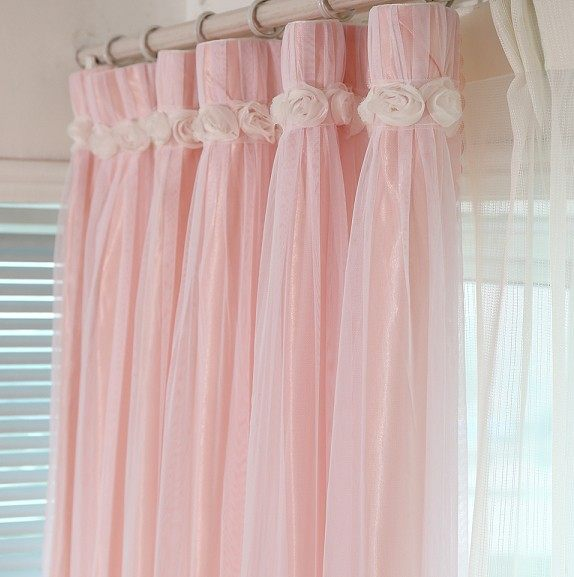 Online Shop 1PC Hot Selling Romantic Lace Curtain Pink Blue Green ...