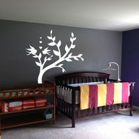 Bird Wall Art Tree Decals Nursery Bedroom Home Decor Vinyl Decal Stickers