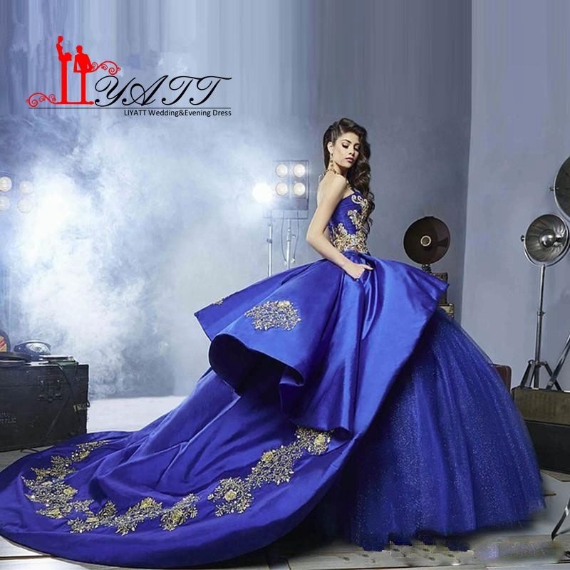 Royal blue and purple quinceanera dresses 2017