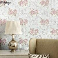 Beibehang暖かいと現代シンプルな花寝室のベッドルームリビングルームテレビの背景環境保護不織布壁