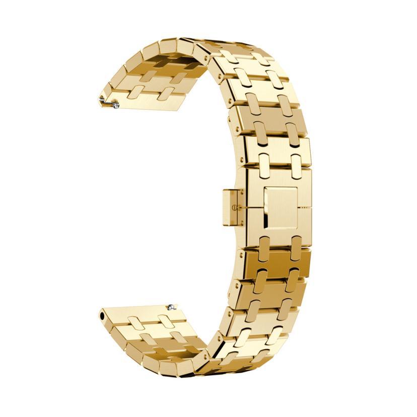 Bracelet de montre en acier inoxydable véritable Bracelet pour Samsung Gear S3 Frontier Watch DEC22 P45