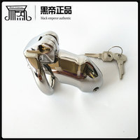 black emperor Small size New lock With Arc-shaped Chastity Device Adult Cock Cage Sex Toy 316L Stainless SteelSex toy