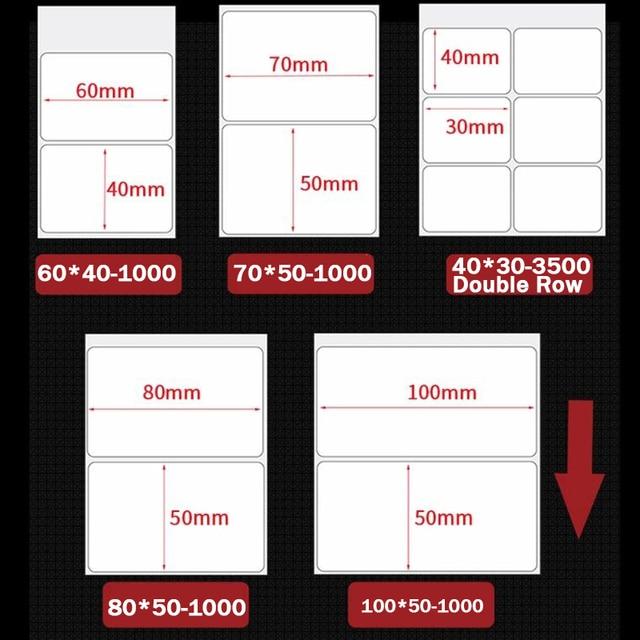 Kertas Thermal Sintetis Label Stiker 1 Roll 2