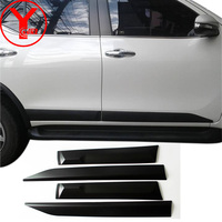 black side door trim for toyota fortuner hilux sw4 2015 2016 2017 2018 2019 car styling body cladding auto accessories YCSUNZ